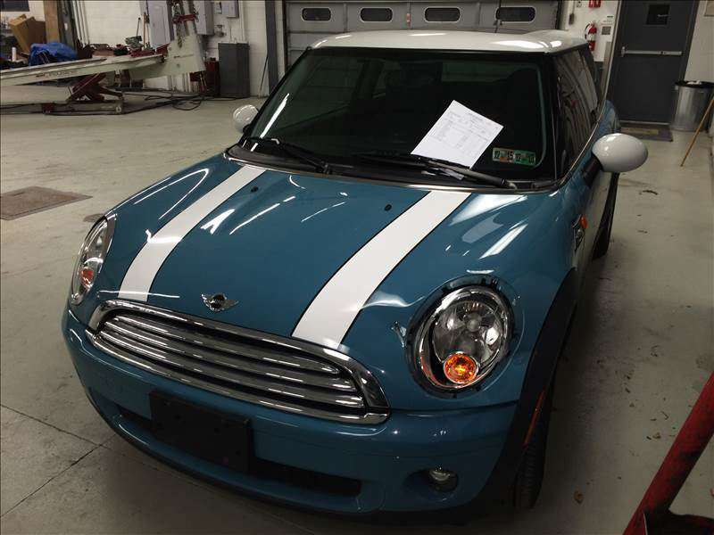 Blue MINI Collision Center Repair