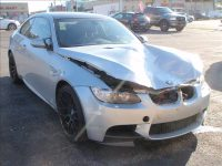 Dented silver BMW