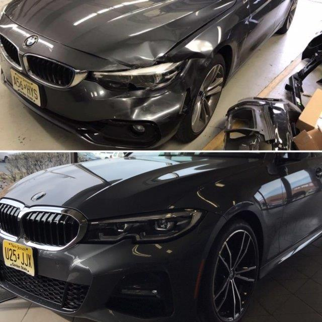 grey BMW collision repair